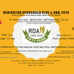 RDA Benington sponsored ride 2019