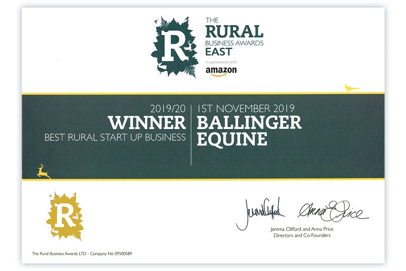 Winner Amazon Rural Business Awards. best Rural Start Up Business