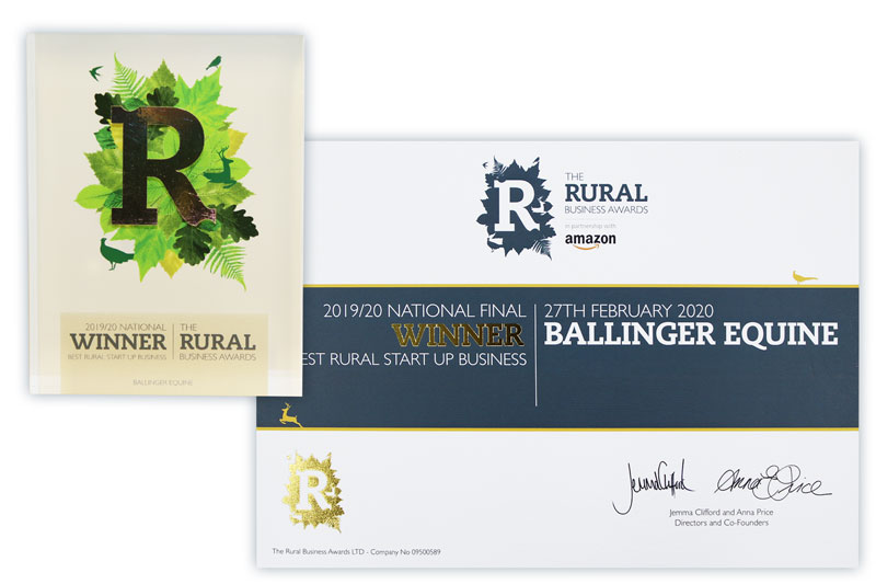 UK Best Rural Start Up Business - Ballinger Equine